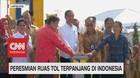 Presiden Jokowi Resmikan Tol Terpanjang di Indonesia