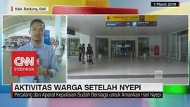 Aktivitas Bandara I Gusti Ngurah Rai Setelah Nyepi