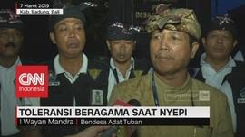 Toleransi Beragama saat Nyepi