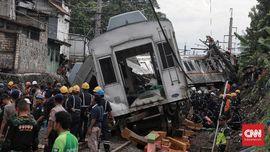Total 19 Penumpang KRL Anjlok Terluka, 14 Masih Dirawat RS