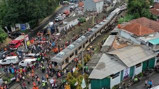 Jalur KRL Lintas Bogor Bisa Dilalui Usai Insiden Anjlok