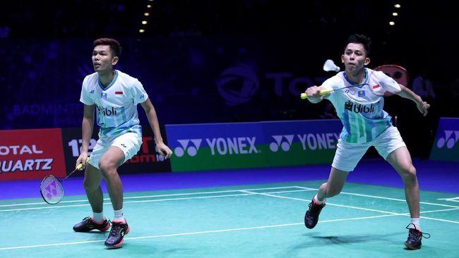 Fajar/Rian Kalah dari Ganda Malaysia di Semifinal All England