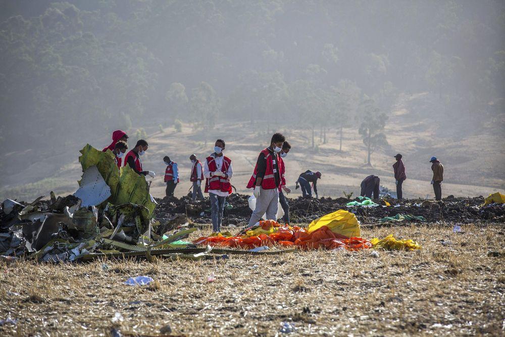 Pesawat Boeing 737 MAX 8 milik Ethiopian Airlines jatuh tak lama setelah lepas landas saat sedang terbang menuju Nairobi, ibu kota Kenya, Minggu (10/3).