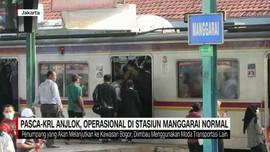 Pasca-KRL Anjlok, Operasional di Stasiun Manggarai Normal