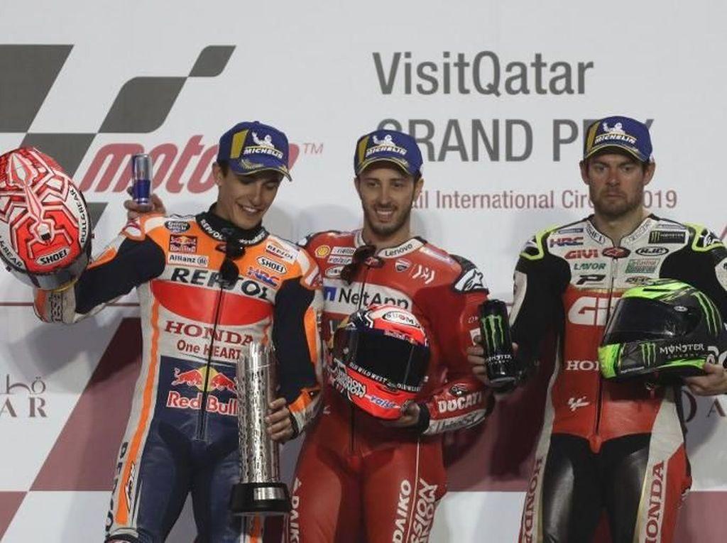 Bagi Dovizioso-Marquez, hasil kali ini merupakan ulangan MotoGP Qatar tahun lalu. (Foto: Karim Jaafar/AFP)