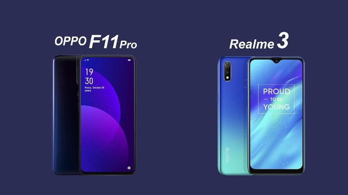 Oppo F11 Pro VS Realme 3, Intip Spesifikasi dan Harganya!