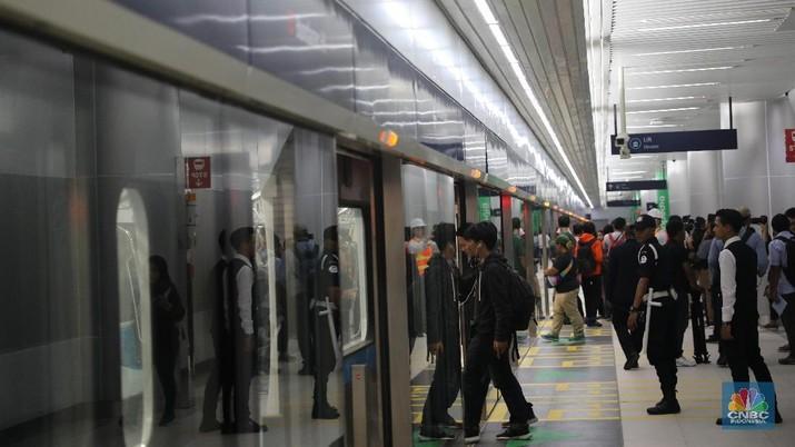 Stasiun MRT Bunderan HI  (CNBC Indonesia/Muhammad Sabki)