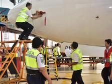 Ada Keretakan Boeing 737NG, Maskapai RI Kandangkan Pesawat