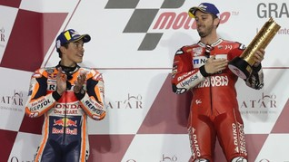 Marquez Tolak Anggap Dovizioso Curang di MotoGP Qatar