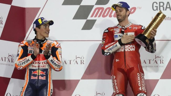 Mata Marquez Tertuju kepada Dovizioso di MotoGP Spanyol