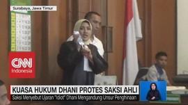 Kuasa Hukum Dhani Protes Saksi Ahli