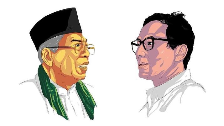 Saksikan Live Streaming: Debat Ma'ruf Amin Vs Sandiaga Uno