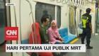 Hari Pertama Uji Publik MRT, Warga Antusias