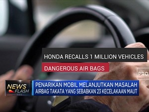 Inflator Bermasalah, Honda Tarik 1,1 Juta Kendaraan