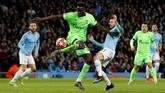 Man City mendapat jatah sebagai tuan rumah pada leg kedua babak 16 besar setelah bermain tandang pada laga pertama 20 Februari 2018 di Jerman. (REUTERS/Andrew Yates)