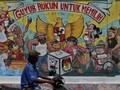 FOTO : Mural Pemilu 2019 dan Upaya Mengikis Golput