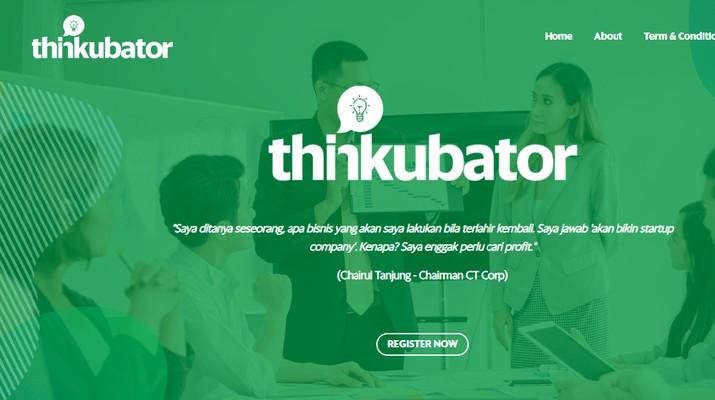 Thinkubator memberikan kesempatan untuk para startup yang ingin melangkah lebih jauh dalam memajukan usaha.