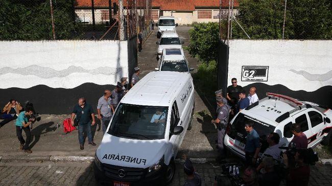 Penembakan di Sekolah Brasil, Siswa Berlarian Panjat Tembok