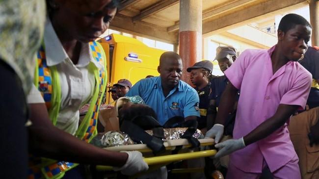 Pada 2016 lalu, sebanyak 100 orang tewas saat sebuah gereja di tenggara Nigeria mendadak ambruk. (REUTERS/Afolabi Sotunde)