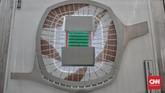 Pembangunan JIS akan mengutamakan konsep gedung hijau. Di sekitar stadion kelak akan dibanung sejumlah fasilitas umum dan sosial yang mengutamakan seni, budaya, dan lingkungan. (CNN Indonesia/Andry Novelino)