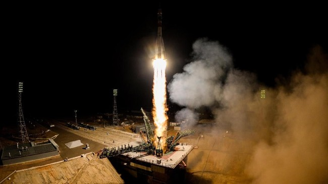 Lembaga Antariksa Amerika Serikat (NASA) meyatakan Soyuz gagal meluncur lantaran adanya anomali pada roket pendorong.(Kirill KUDRYAVTSEV / AFP)