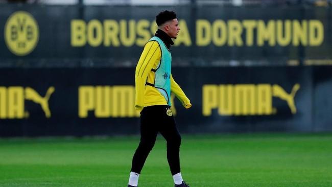 Pemain sayap Borussia Dortmund Jadon Sancho menjadi incaran Manchester United dan Chelsea. Menurut Mirror Die Borussen siap melepas Sancho dengan harga £100 juta. (Action Images via Reuters/Andrew Couldridge)