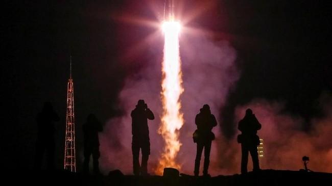 Wahana antariksa Soyuz MS-10 yang membawa ketiga astronaut sebelumnya gagal meluncur pada pertengahan Oktober lalu.(REUTERS/Shamil Zhumatov)