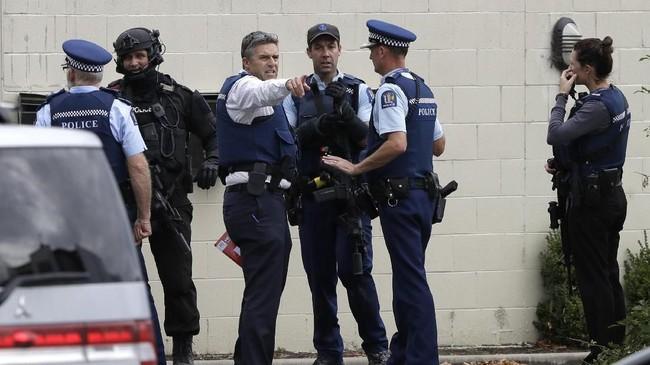 Perdana MenteriSelandia Baru,Jacinda Ardern, menyatakan penembakan di dua masjid itu sebagai insiden terorisme. (AP Photo/Mark Baker)