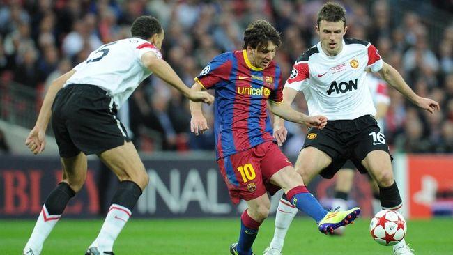 Manchester United vs Barcelona, Cerita Manis dan Rekor Messi