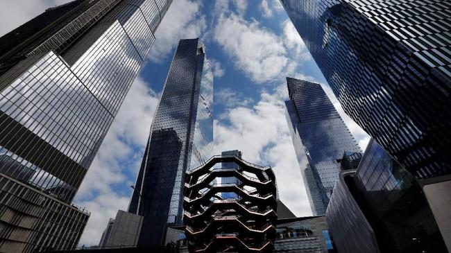Gedung terpadu Hudson Yards diresmikan pada Jumat (15/3) lalu di Manhattan, New York, Amerika Serikat. (AP Photo/Mark Lennihan)