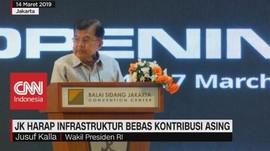 JK Harap Infrastruktur Bebas Kontribusi Asing