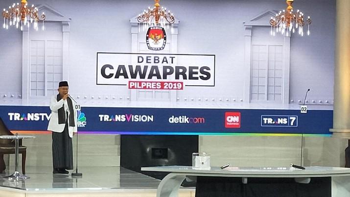 Debat Cawapres, Ma'ruf Amin Jualan JKN, PKH dan Beasiswa