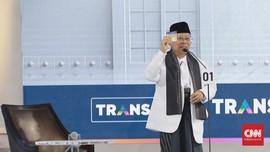 Ma'ruf Amin Pamer Tiga Kartu dalam Visi Misi Debat Cawapres