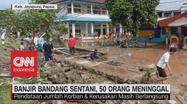 Banjir Bandang Landa Sentani, 50 Orang Meninggal
