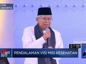 Ma'ruf Amin Janjikan Visi Indonesia Sehat