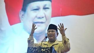 Prabowo Berhenti Orasi saat Azan Berkumandang