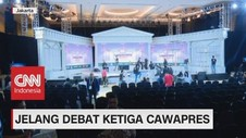 Mengintip Persiapan Venue Debat Ketiga Cawapres