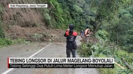 Tebing Longsor di Jalur Magelang-Boyolali