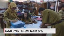 Gaji PNS Resmi Naik 5 %