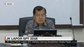 Wapres JK Lapor SPT 2018