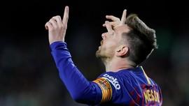 Lionel Messi Raih Sepatu Emas Keenam