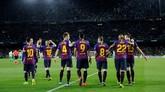 Barcelona kini makin kokoh di puncak klasemen dengan keunggulan 10 angka atas Atletico Madrid. (REUTERS/Marcelo del Pozo)