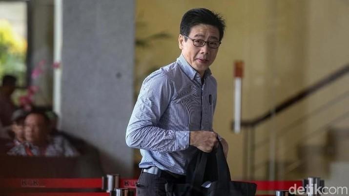 KPK sebelumnya menetapkan Samin Tan sebagai tersangka karena memberi suap Rp 5 miliar kepada Eni Maulani Saragih.