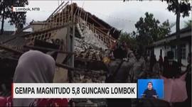 Kepanikan Saat Gempa 5,8 Magnitudo Guncang Lombok