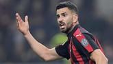 AC Milan sempat membuka peluang untuk setidaknya menyamakan kedudukan setelah Mateo Musacchio mencetak gol kedua pada menit ke-71. (REUTERS/Daniele Mascolo)