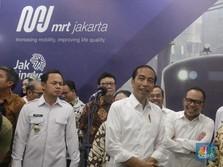 Akhirnya DKI Punya MRT, Jokowi: Ini Budaya & Peradaban Baru