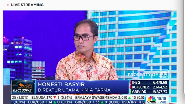 PT Kimia Farma (Persero) Tbk (KAEF) menggandeng PT Telekomunikasi Indonesia (Persero) Tbk (TLKM).