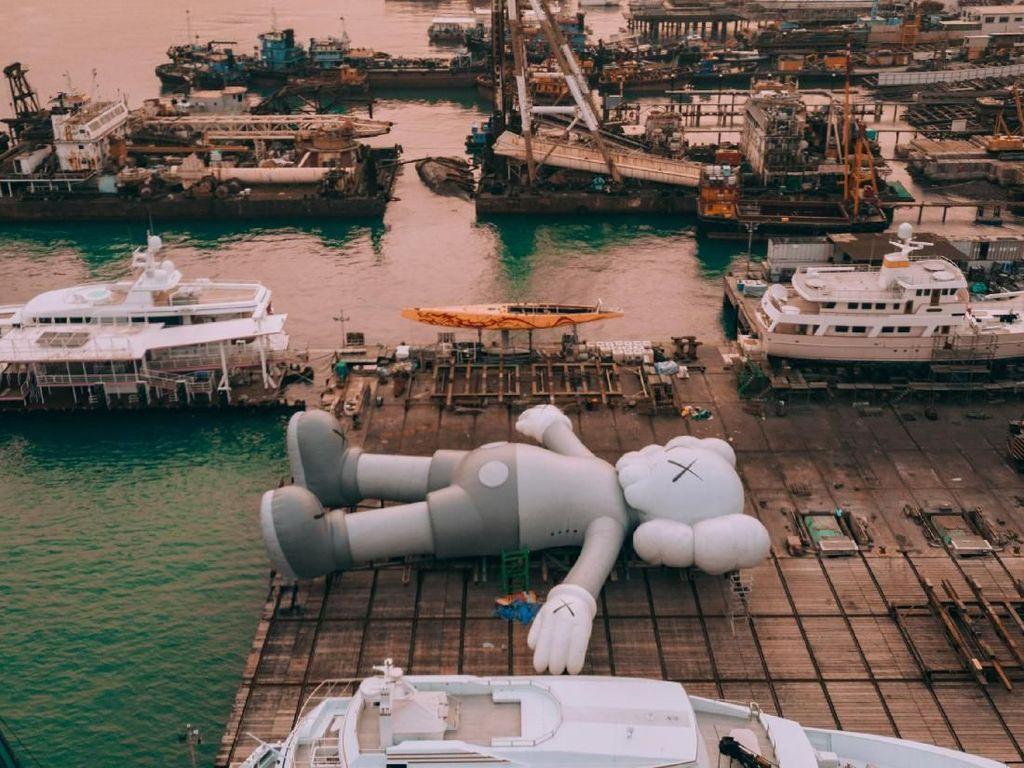 Terletak di Victoria Harbour Hong Kong mulai 22 Maret mendatang, patungnya bakal dipajang sepanjang Hong Kong Arts Month. Foto: HK Tourism Board/ Istimewa