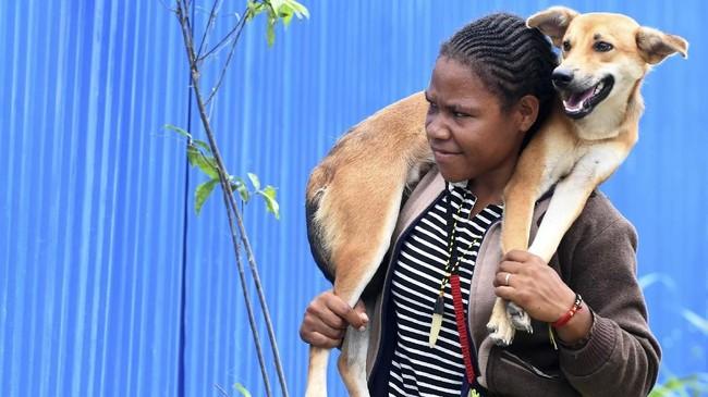 Tim gabungan dari 23 berbagai instansi dan lembaga masih melakukan penanganan darurat bencana banjir bandang di Sentani Kabupaten Jayapura Provinsi Papua. ANTARA FOTO/Zabur Karuru