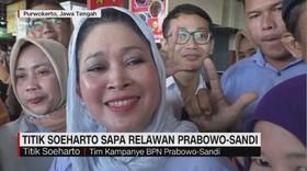Titik Soeharto Sapa Relawan Prabowo-Sandi